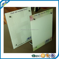 small magnetic tempered glass whiteboard for office stationary