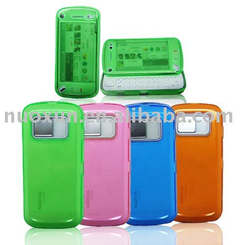 Tranparent-Resin Soft Case for NOK N97