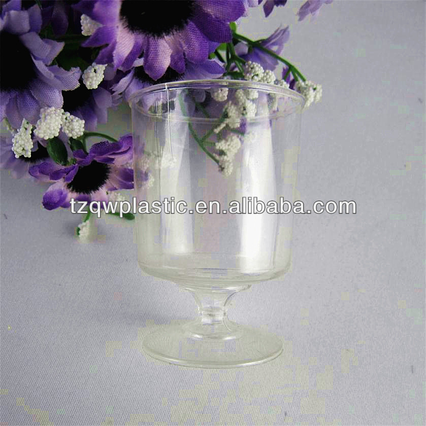 Custom Imprinted Plastic disposable wine glass for bar party