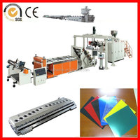 PS/PC/HIPS/PP/PE/PET/ABS plastic sheet extusion machine