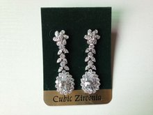 middle east style long bridal earrings