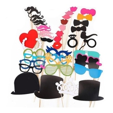 Wholesale Halloween/Christmas/Wedding/ Birthday Dance Party Photo Booth Props 48Pcs/Set