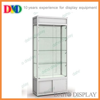 Lockable Glass Showcase Cabinet For Retail Store