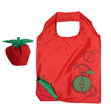 OEM factory direct suppy apple 190T polyester cheap foldable shopping bag