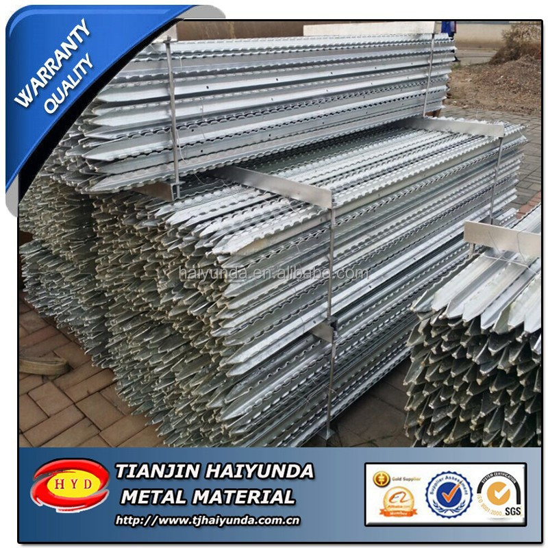 Y fence post star pickets 450mm , low carn steel , bitumen coated,hot dipped galvanized