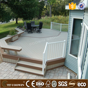 Easy installation DIY WPC decking tile wood plastic materials