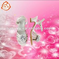 High Heel Leather Girls Sandals Shoes
