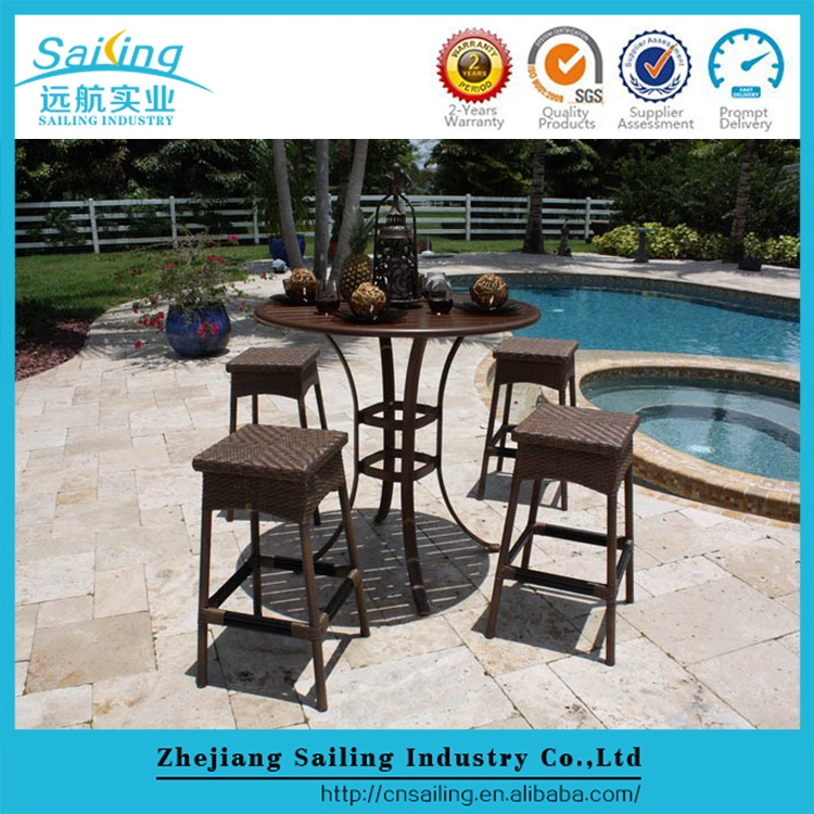 Newest Product Resin Wicker Pvc Outdoor Bar Furniture