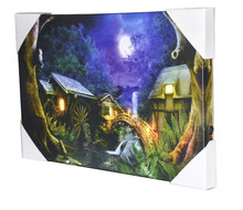 Fairy tale night lighted Led canvas wall art