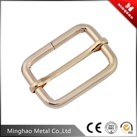 High end cheap metal slide buckles , slide buckle belt with light gold
