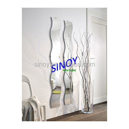 SINOY 4mm High quality widely used decorative irregular wall mirror B&Q supplier