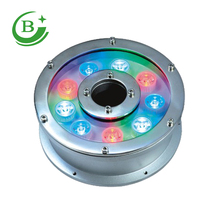 12w rgb led underwater light dc24v ip68 waterproof aquarium swimming pool lights spotlight stainless lighting