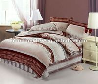 polyeser microfiber pigment printed brushed fabric for bed sheet in russia market