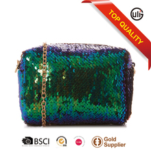 China fashion bag type and sequins material fashion sequins purse shoulder bag women handbag