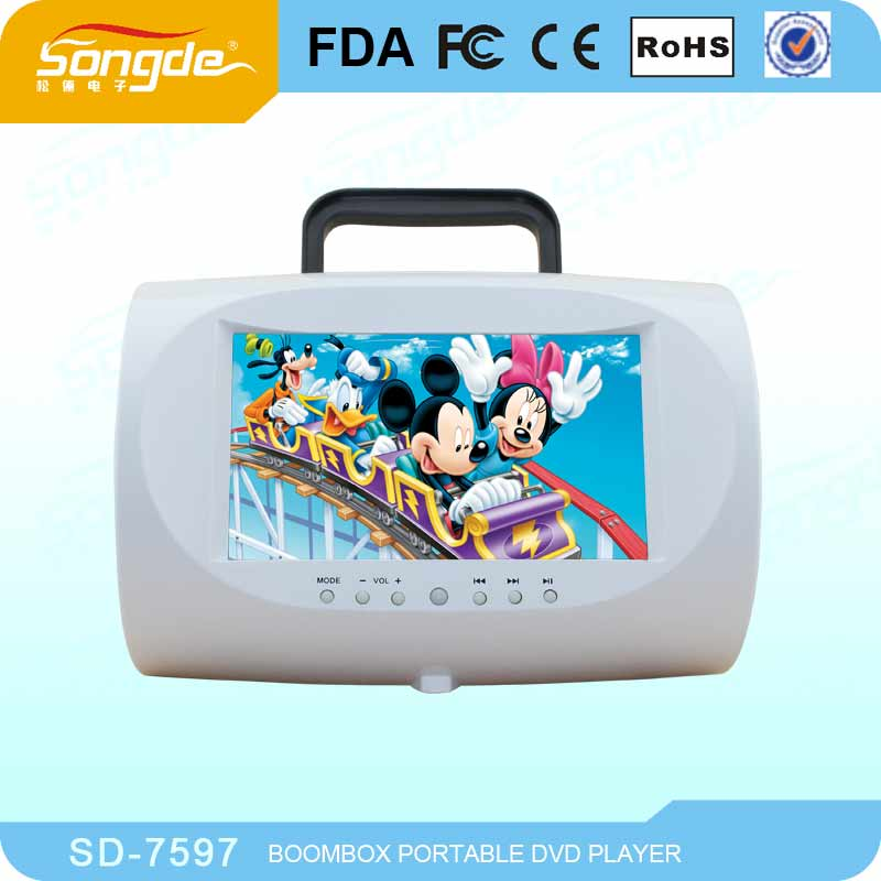 "7"" Mickey mouse portable DVD player with USB SD FM Game"