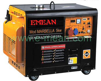 Portable 5kva 220v single phase diesel generator for home use