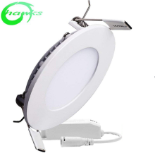 6W <strong>Flat</strong> LED Panel Light, Round Ultrathin LED Recessed Downlight, 480lm, Warm White 3000K, Cut Hole 4.1 Inch