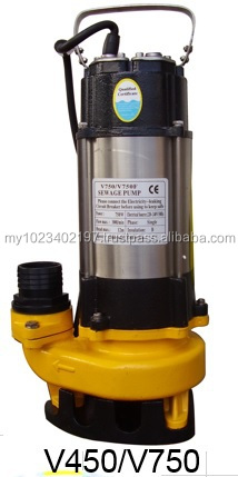 Stainless Steel Submersible Sewage Pump V450, V450F (Auto)