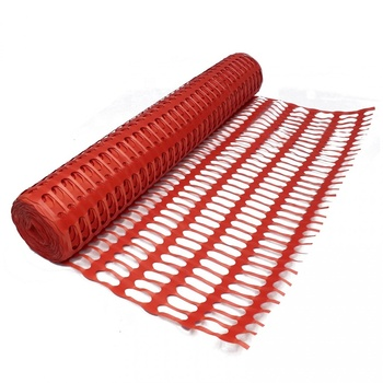 Orange Plastic construction sites safety barrier fence with accessory