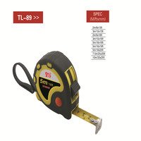 New design Co-molded rubber case type durable rubber Grip tape measure,steel tape measure,tape tool