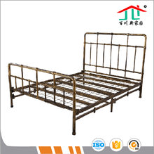 High Quality Newly Design Modern Sleeping Single/Double Bed with Metal Bed Frame