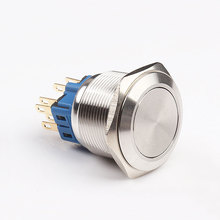 IP67 green light 22mm momentary metal pushbutton switch