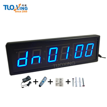 2.3 inch 6 digit small LED countdown clock for wall mounting