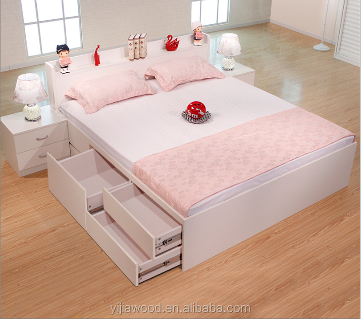 Modern bedroom furniture drawer <strong>bed</strong> with storage