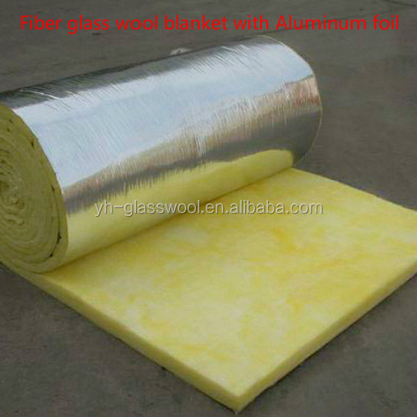 Fiber glass wool with aluminium foil layer for oven for Glass fiber blanket insulation