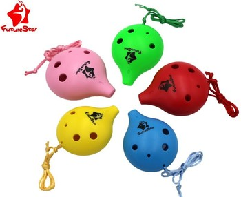 children 6 holes plastic plastic ocarina made in china for sale