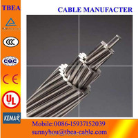 Overhead bare stranded conductor Peacock and Cat ACSR cable Aluminum conductor steel reinforced