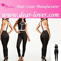 New arrival hot sale cheap slim sexy lady jump suit