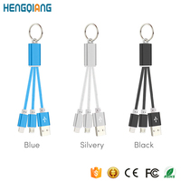 2 in 1 Keychain USB Charging Cable with Keyring