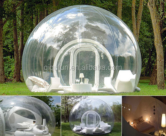 2016 customized large inflatable bubble dome tent for sales