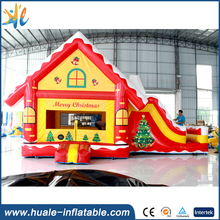 Popular inflatable combo for christmas inflatable christmas decoration inflatable slide