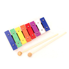 Wholesale wooden xylophone chinese musical instruments rainbow mini metallophone xylophone for kids