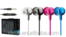 custom logo stereo in-ear earphone with good quality for mobile phone, bulk buy from China