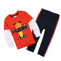 Two-piece cartoon printing T-shirt The Chinese brand children's clothing wholesale