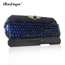 Custom cheaper USB wired three color backlit gaming keyboard