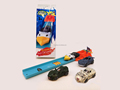 Animal Empire Animal racing car launcher with track