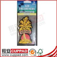 Promotional gift funny car air freshener, absorbent paper air freshener car perfume