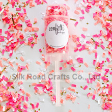 floral push pop confetti for wedding supplies and decoration