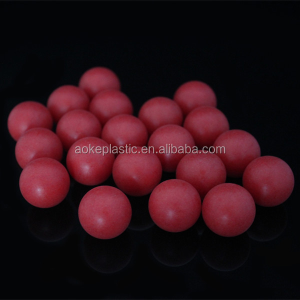20mm PP red colorful precision plastic solid ball