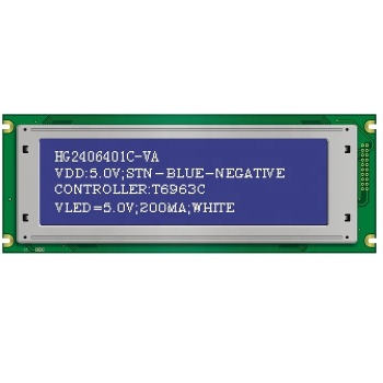 192x64 STN negative mode graphic LCD module