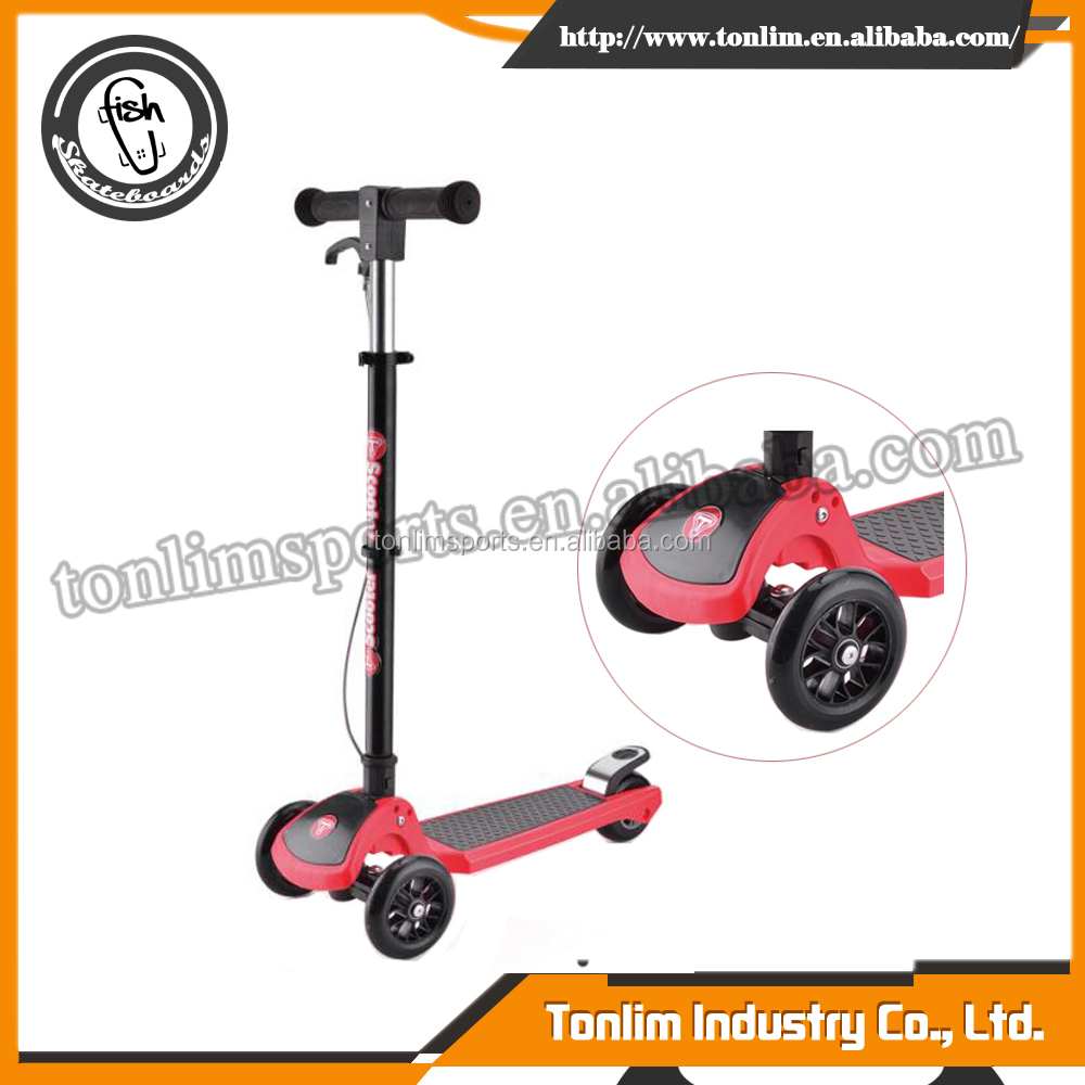inline kids scooter with roof