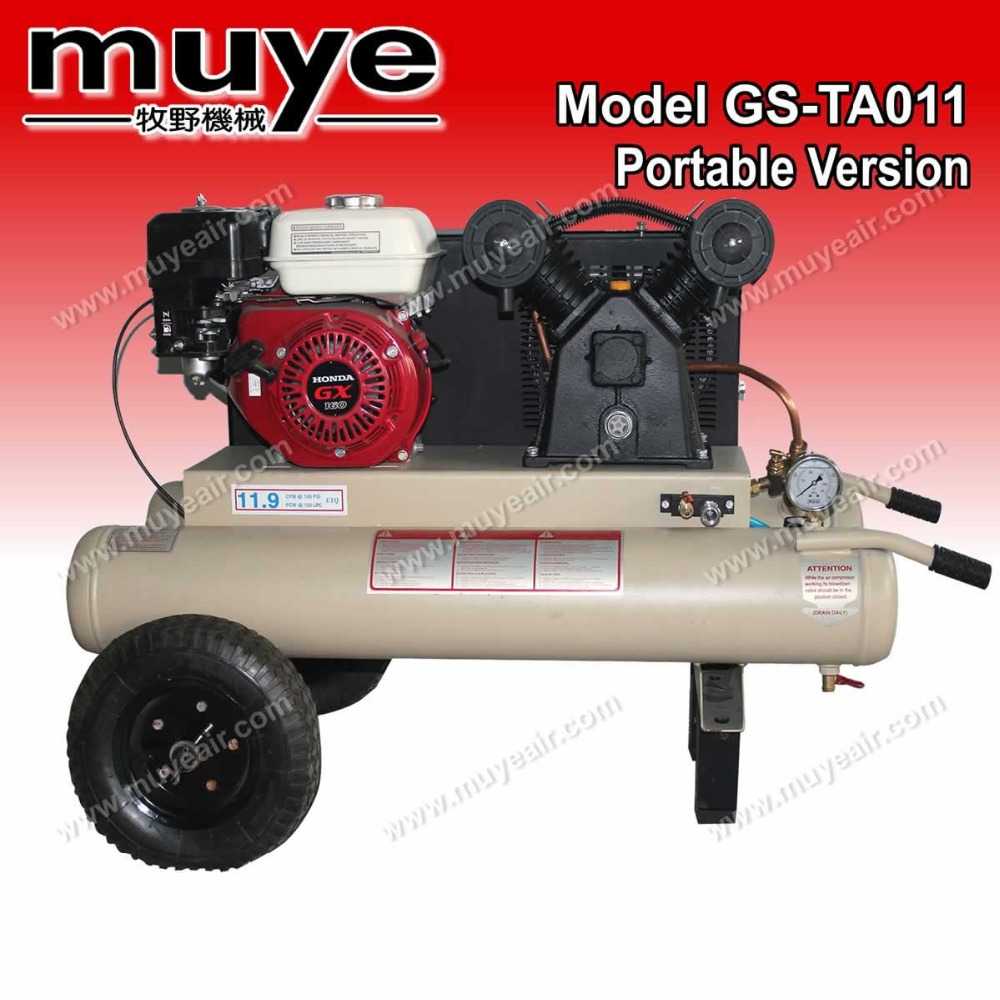 100 psi sturdy metal gasonline piston air compressor model GS-TA011 0