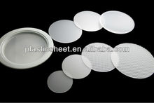 Polystyrene round ceiling LED light diffuser sheet