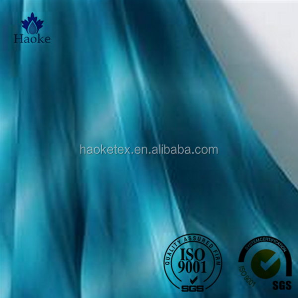 beautiful flower type 75d 100% polyester ombre chiffon fabric