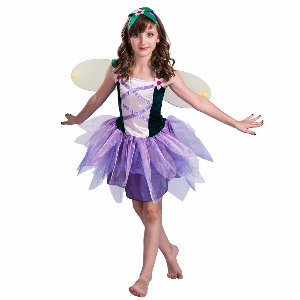 children Girls Halloween Butterfly Fairy Wing Cosplay Costume kids cartoon character costume