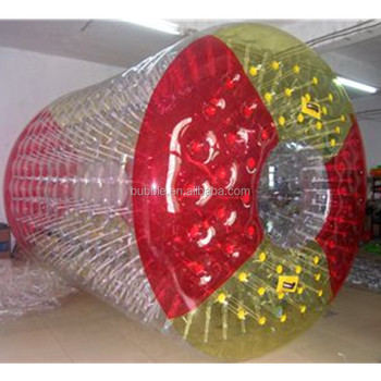 Good price water zorbing China inflatable roller ball toy on water